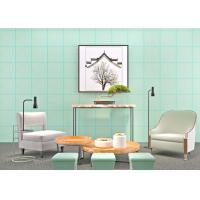 Wholesale Cyan Bronzing Non-Woven Paper Modern Removable Wallpaper for Living Room from china suppliers