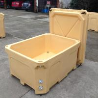 Wholesale 600L Rotational molded plastic fish box with insulation material ice fish box from china suppliers