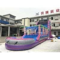 Wholesale Purple Adult Kids Inflatable Water Slides With Pool , Slip n Slide from china suppliers