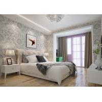 Wholesale Embossed Victorian Damask Wallpaper , Creamy white Living Room Wallpaper CE Listed from china suppliers