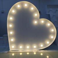 """Wholesale Metal 12"""" LED Marquee Letter Lights Vintage Heart Shape for Wedding Decor from china suppliers"""