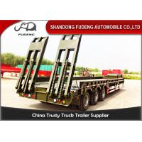 Wholesale Spring Ladder Gooseneck Low Bed Semi Trailer Carrying Capacity 65 Tons from china suppliers