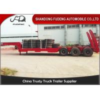 Wholesale Gooseneck Semi Low Bed Trailer , Heavy Equipment Low Loader Trailers from china suppliers