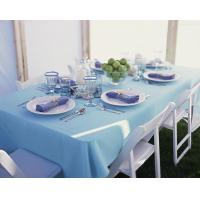 Wholesale Sky Blue Cotton Table Cloth Square Elegant For Hotels from china suppliers