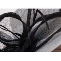 China Natural Black Ladies Sinamay Hats For Women / Fascinators Feather Sinamay Hat on sale