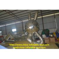 Wholesale Silver Mirror Reflecting Inflatable Advertising Products Large Rabbit Model from china suppliers