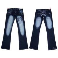 China Sexy Blue Queen Embroiderded Denim Jeans on sale
