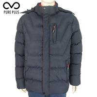 China Breathable Mens Light Padded Jacket , Polyester Removable Hood Jacket for sale