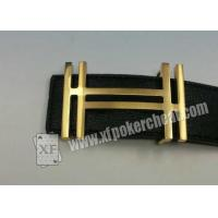 Quality Poker Cheating Device Black Leather Strap Belt Camera With 19 - 35cm Distance for sale