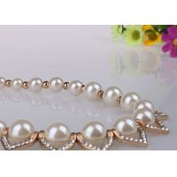 Wholesale Vintage Delicate Fashion Jewelry Pearl Necklaces With Diamond And Alloy Pieces from china suppliers