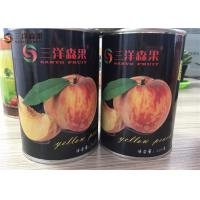 Quality Delicious Tropical Canned Fruit / Preserving Yellow Peaches Easy Open Lid for sale
