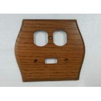 Wholesale Solid Wood Decorate Switch Plate Covers 3 Toggle Individual Design 145 X 127 mm from china suppliers