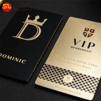 Wholesale Free sample gold plated my metal laser cut hologram vip business cards manufacturer in China from china suppliers
