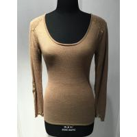 Wholesale Silk Cashmere Ladies Pullover Sweaters Round Neck With Sequin Long Sleeve from china suppliers