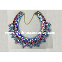 Wholesale 30cm Small Bead Weaving Necklace With Plastic Beads , Alloy Chain from china suppliers