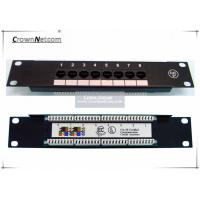 "Wholesale Network 10"" 8PORTS CAT.5e PATCH PANEL 1U SOHO mini patch panel 8port - 10 inch Rack Mount from china suppliers"