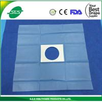 Wholesale sterile adhesive fenestrated drape with hole disposable surgical sheet from china suppliers