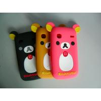 Wholesale Black / Red / Brown Komatsu Bear Shape Cell Phone Silicone Case With Embossed Logo from china suppliers