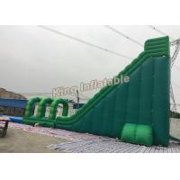 Quality Attractive Commercial Outdoor Giant Long Green Blow Up Water Slides For Adult for sale