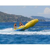 Wholesale Yellow 0.9mm PVC tarpauli Inflatable Flying Fish Boat With Handles from china suppliers