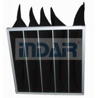 China High Efficiency Air Conditioner Air Filter Activated Carbon Black Bag Pocket on sale