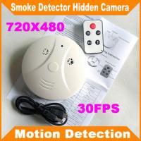 Wholesale Remote Control Smoke Detector Covert Spy Camera Pinhole Ceiling DVR W/ Motion Detection from china suppliers