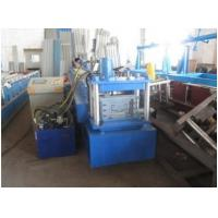 Wholesale Blue Metal Door Frame Roll Forming Machine Full Automatic  With Lock Hole Station from china suppliers