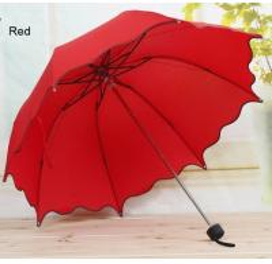 Wholesale 2016 New Non-automatic Umbrella Rain Women Folding Cuteg Lace Female Umbrellas from china suppliers
