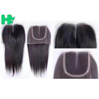 Wholesale 100% Human Hair  Closure Size 4*4 Middle Part / Three Part / Free Part Lace Hair Closure from china suppliers