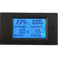 Wholesale AC 80-260V/100A Volt Amp Meter AC Multi function Voltage Ampere Power Energy Tester from china suppliers