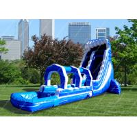 Wholesale Kids Bule Big Inflatable Water Park 30m x 8m with air blower from china suppliers
