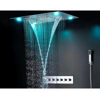 Wholesale Ceiling Mounted LED Rain Showers Heads , Bathroom Water Saving Shower Head from china suppliers