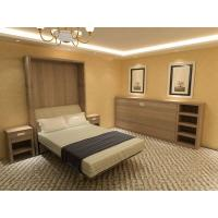 Buy cheap Multifunctional Double Wall Bed with Talbe and Bookshelf , E1 Grade MDF Walnut Color from wholesalers