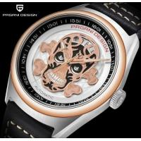 China PAGANI DESIGN Full automatic mechanical watch Skull Dial Calendar Display Waterproof Leather Watch  PD-1630 for sale