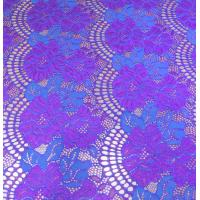 Wholesale 150CM Width Floral Cotton Nylon Lace Fabric Purple / White / Black For Ladies Dressing from china suppliers