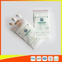 LDPE Clear Medical Ziplock Pill Bags For Hospital / Drugstore Disposable for sale
