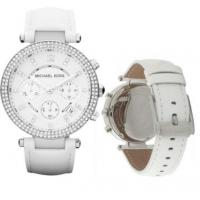 Wholesale Wholesale Michael Kors MK2277 Parker White Silver 38mm Ladies Chronograph Watch from china suppliers