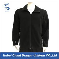 Wholesale Black Fleece Men ' S Security Guard Jackets Duty Soft Shell Outwear from china suppliers