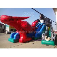 Wholesale 15mL Giant Dinosaur Inflatable Slide , King Kong Water Slide Park For Adults from china suppliers