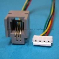 Wholesale OEM/ODM RJ45 Modular Jack Plug Connector to RJ11/RJ12 Wiring and Data Flat Cable for Telephone Cord from china suppliers