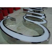 Wholesale Front Lit Acryic LED Channel Letters 3D Effect With Polished SS Side Reverse from china suppliers