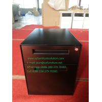 Wholesale Pedestal file cabinet 2 drawer,one box drawer,one file drawer,black color,H490XW360XD500mm,export to USA from china suppliers