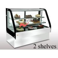 Quality Curved Cold Bakery Food Display Showcase Orchid Cake Showcase Tempered Glass for sale