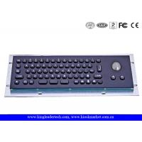 Wholesale IP65 Stainless Steel Black Compact 66 Keys Metal Keyboard With Trackball from china suppliers