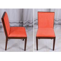 Wholesale Orange Wood Modern Dining Room Chairs , Fabric Covered Hotel Restaurant Chair from china suppliers