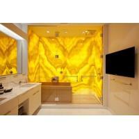 Wholesale Bacstone Glass Panel With Yellow Onyx from china suppliers