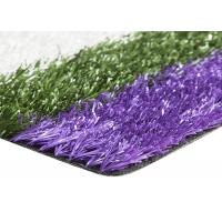 Wholesale Smooth Coloured Tennis Court Artificial Turf , Coloured Fake Grass UV Resistance from china suppliers