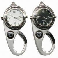 Wholesale Multifunction Clock Keychain, Available in Various Designs, with Nickel Finished from china suppliers