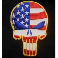 Wholesale Punisher Skull USA Waving Flag Tactical US Army Morale Badge Color Velcro Patch from china suppliers