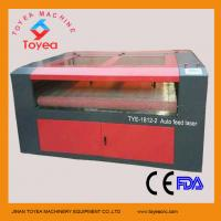 Wholesale Double heads Auto feeding laser engraving&cutting machine machine for cloth,leather TYE-1812-2 from china suppliers